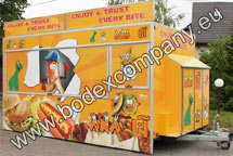 Vendor fast food trailer