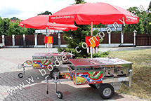 Wagen Hot Dog Cart